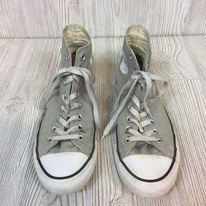 CONVERSE Chuck Taylor High Top Gray Sneakers 10